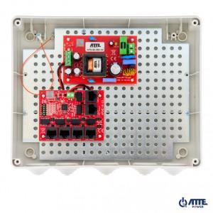 Zestaw do 5 kamer IP switch PoE 5P+1UP ATTE IP-5-11-L3