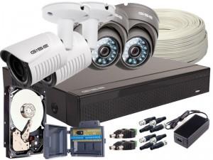 Zestaw 4w1 4x Kamera FULLHD/, Rejestrator 4ch + HDD 1TB