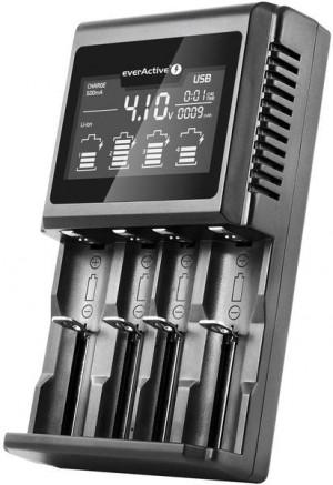 Ładowarka do akumulatorków cylindrycznych Li-ion oraz Ni-MH everActive UC-4000