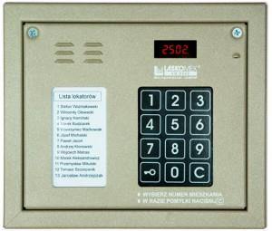 Laskomex CP-2502NR beżowy Panel audio z mini listą lokatorów i z czytnikiem kluczy RFID