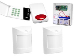Zestaw alarmowy SATEL CA-4, Klawiatura LED, 2 czujniki ruchu, sygnalizator zewnętrzny SPL-5010