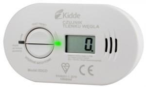 Czujnik czadu, tlenku węgla, KIDDE 5DCO 7 lat LCD