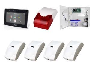 Zestaw alarmowy SATEL Integra 24, klawiatura Graficzna, 4 czujki, sygnalizator wewnętrzny