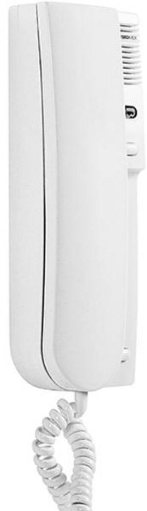 Laskomex LY-8M biały Unifon cyfrowy z sygnalizacją wywołania – LED, regulacją głośności, przycisk sterowania bramą.