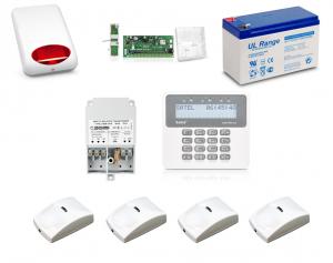 Zestaw alarmowy SATEL PERFECTA 16, Klawiatura LCD, 4 czujniki ruchu PET, sygnalizator zewnętrzny, powiadomienie GSM