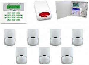 Zestaw alarmowy Satel CA-10 LCD, 7 Czujek, Sygnalizator zewnętrzny