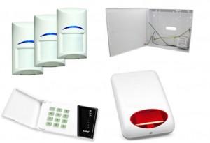 Zestaw alarmowy Satel CA-4 LED, 3xBOSCH, syg. zew. SPL-5010R
