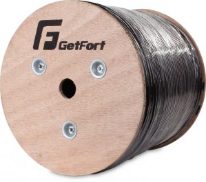 KABEL GETFORT CAT.5e F/UTP UV ŻELOWANY SKRĘTKA 500M
