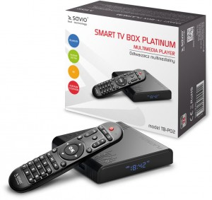 Savio Smart TV Box Platinum TB-P02 4/32GB BT