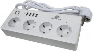 Listwa zasilająca Wi-fi z USB Spacetronik Smart Life SL-PS26 - BIAŁA