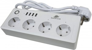 Listwa zasilająca Wi-fi z USB Spacetronik Smart Life SL-PS26
