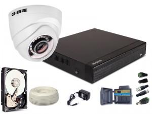 Zestaw AHD, 1x Kamera FULLHD/IR 20m, Rejestrator 4ch + 1TB
