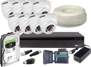 Zestaw 4w1, 8x Kamera FULL HD/IR20, Rejestrator 8ch + 1TB