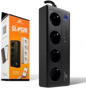 Listwa zasilająca Wi-fi z USB Spacetronik Smart Life SL-PS26 - CZARNA