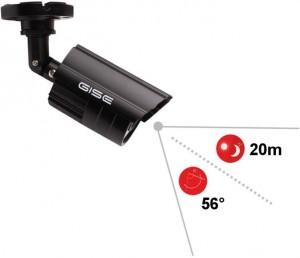 Zestaw 4w1, 4x Kamera HD/IR20, Rejestrator 4ch