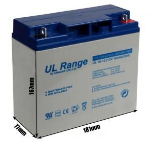 "Akumulator AGM ULTRACELL UL 12V 18AH ""żelowy"""