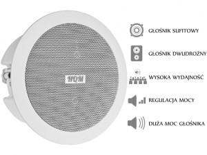 GŁOŚNIK HQM-510SO / SOZ1625 16W