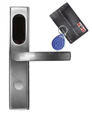KLAMKA EURA ELH-10B9/SILVER z czytnikiem kart RFID srebrny