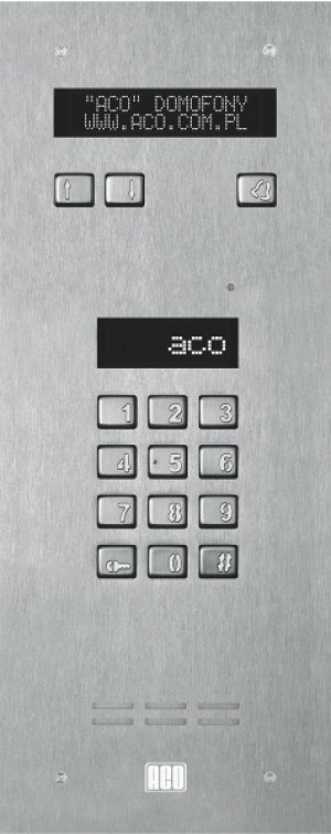 ACO INSPIRO 3S Centrala SLAVE, 255 lokali,LCD, czytniki kart, stal nierdzewna