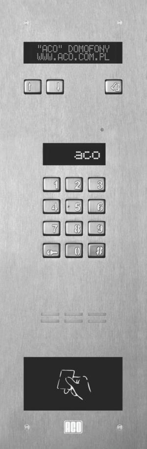ACO INSPIRO 5S+ Centrala Slave, do 1020 lokali, LCD, RFID do 6144 breloków
