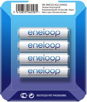 Akumulatorki Panasonic Eneloop R03 AAA 800mAh 800mAh BK-4MCCE/4 (box 4 szt.)