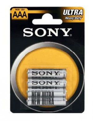 Baterie SONY AAA R03 (blister 4szt.)