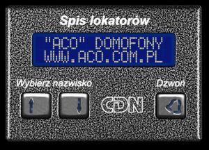 ACO CDN-230E ST Elektroniczny spis lokatorów stal