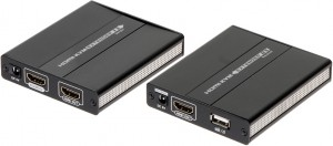 EXTENDER HDMI+USB-EX-60 OBRAZ+MYSZA PO SKRĘTCE