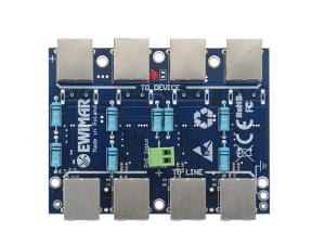 Moduł LAN z zabezpieczeniem przeciwprzepięciowym EXT z funkcją InPoE EWIMAR PTF-4-EXT/InPoE