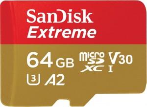 Karta pamięci SANDISK EXTREME microSDXC 64GB 160/60 MB/s U3 CL10