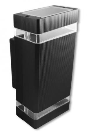 Oprawa architektoniczna Kinkiet pod halogen 1x GU10 czarny kwadrat
