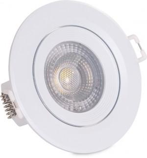 Oprawa LED OKRĄGŁA DOWNLIGHT 5W 4000K neutralne białe światło oczko regulowane