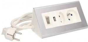 Przedłużacz biurkowy z wyłącznikiem ORNO OR-AE-1328 2x250V AC i USB