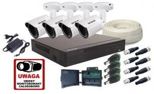 Zestaw 4w1, 4x Kamera FULL HD/IR25, Rejestrator 4ch