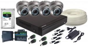 Zestaw 4w1, 4x Kamera FULL HD/IR35, Rejestrator 4ch NH, HDD 1TB